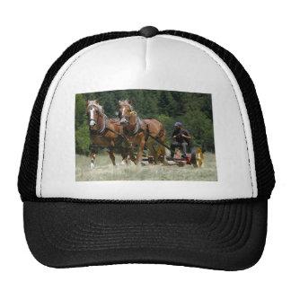 Mowing Hay Trucker Hats
