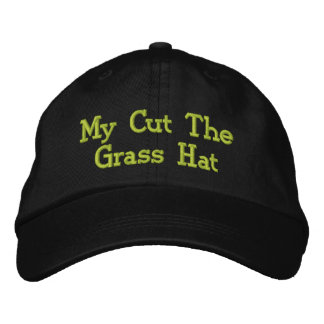 Mowing The Lawn. Embroidered Hats