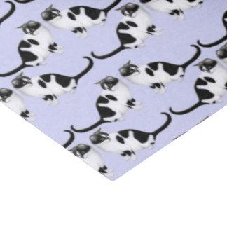 Moxie the Black & White Tuxedo Cat Tissue Paper