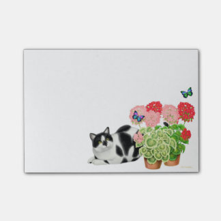 Moxie the Cow Cat in Flowers Post-it Notes