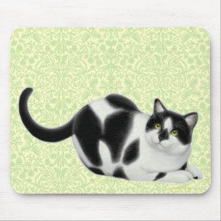 Moxie the Tuxedo Cat Mousepad