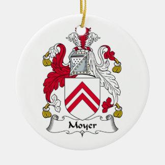 Moyer Family Crest Ceramic Ornament