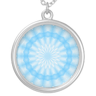 Mozaik Mandala (blue) Silver Plated Necklace