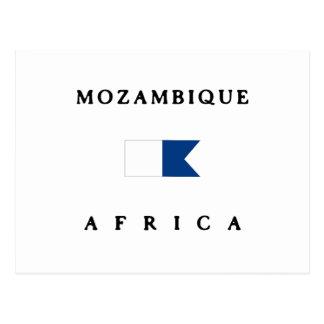 Mozambique Africa Alpha Dive Flag Post Cards