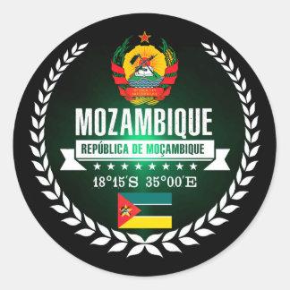 Mozambique Classic Round Sticker