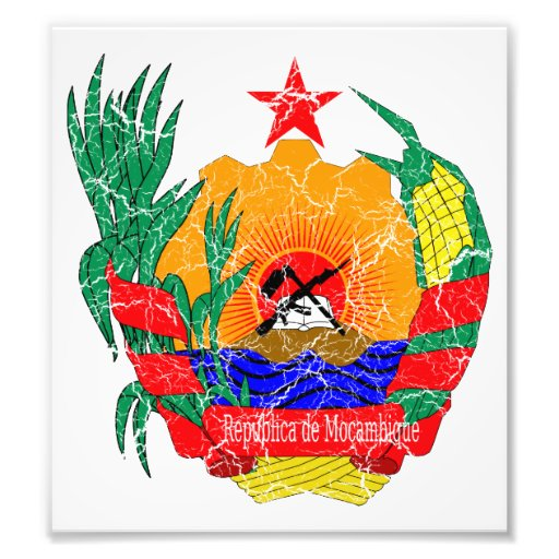Mozambique Coat Of Arms Photographic Print