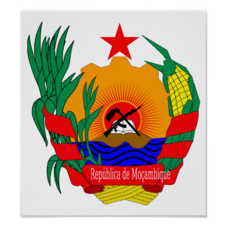 Mozambique Coat Of Arms Print