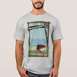 Mozambique Fishing boat cartoon vacation poster T-Shirt