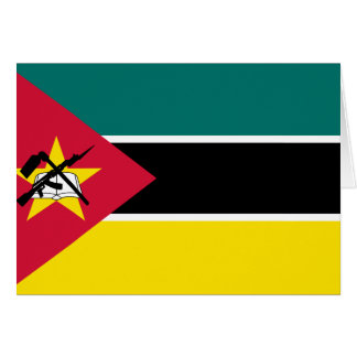 Mozambique Flag Note Card