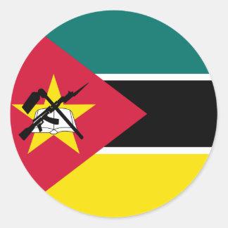 Mozambique Flag Classic Round Sticker