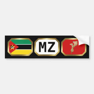 Mozambique Flag Map Code Bumper Sticker