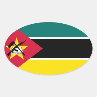 Mozambique Flag Oval Sticker