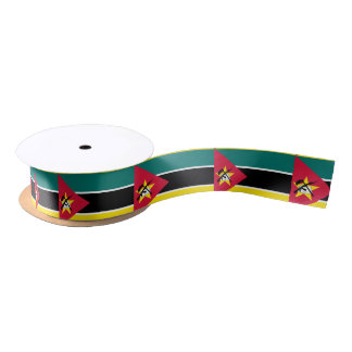 Mozambique Flag Satin Ribbon