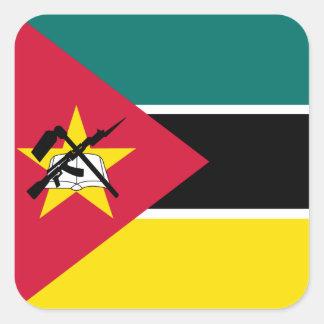 Mozambique Flag Square Sticker