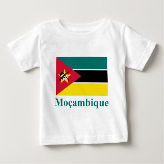 Mozambique Flag with Name in Portuguese Baby T-Shirt