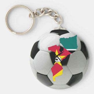 Mozambique football soccer keychain
