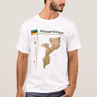 Mozambique Map + Flag + Title T-Shirt