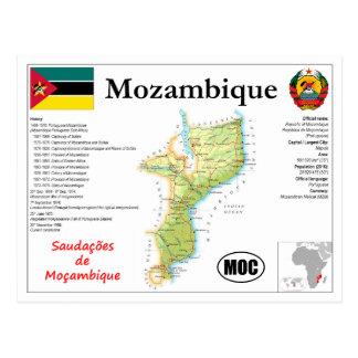 Mozambique map Postcard