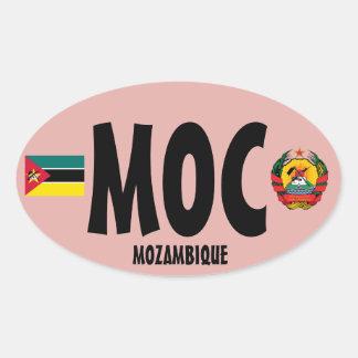 Mozambique (MOC) Euro-style Oval Sticker