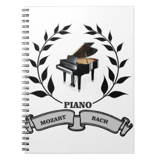 Mozart and Bach piano Note Books