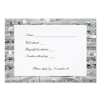 Mozart and Pearls rsvp with envelopes Card