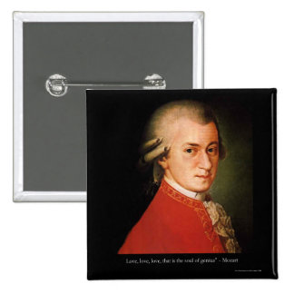 """Mozart """"Love Love Love"""" Quote Gifts & Collectibles 15 Cm Square Badge"""