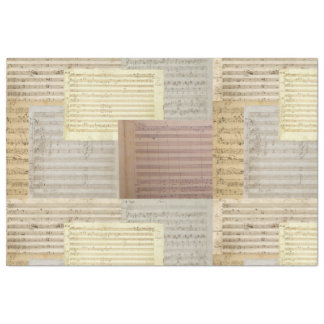 Mozart Music Manuscript Medley Tissue Paper