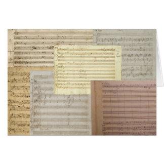 Mozart Music Manuscripts Card