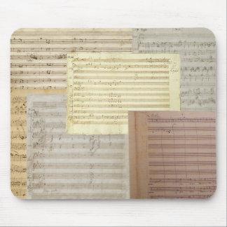 Mozart Music Manuscripts Mouse Pad