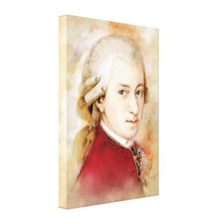 Mozart on Canvas - Watercolor Style