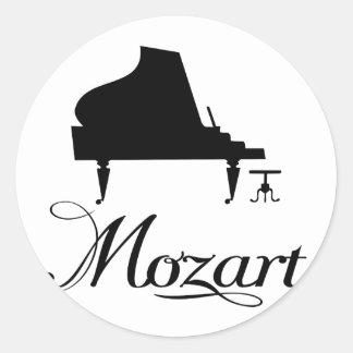 Mozart Piano T-Shirt Classic Round Sticker