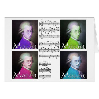mozart pop art greeting card
