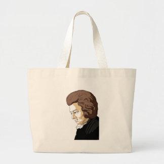 Mozart (Wolfgang Amadeus Mozart) Large Tote Bag