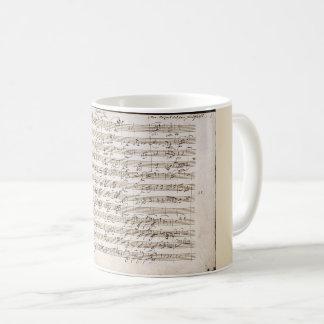 Mozart's Handwritten Notes Creative Coffee Mug