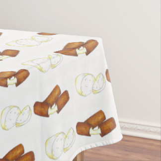 Mozzarella Cheese Sticks Junk Food Foodie Print Tablecloth