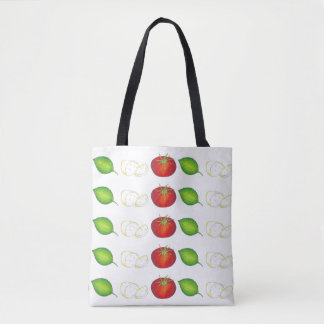 Mozzarella Tomato Basil Italian Cooking Food Tote