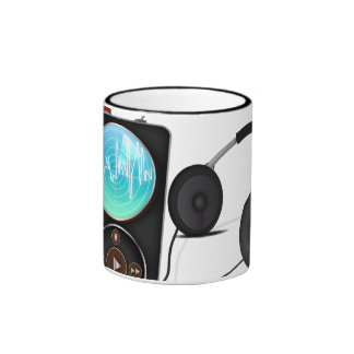 MP3 Player Ringer Coffee Mug
