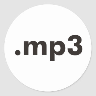 mp3 products & designs! round sticker