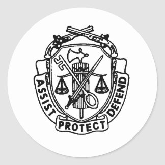mp crest classic round sticker