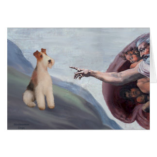 MP-God s Wire Fox Terrier M Greeting Cards