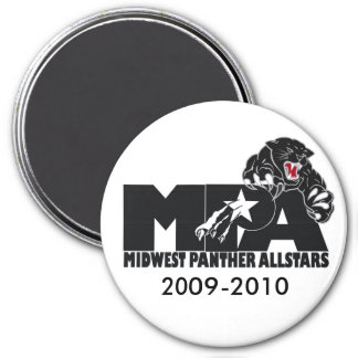 MPA logo black and white magnent 7.5 Cm Round Magnet