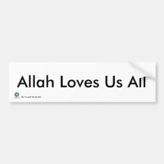 MPV-Allah Loves Us All - Bumper Sticker