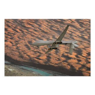 MQ-1 Predator unmanned aircraft drone Poster