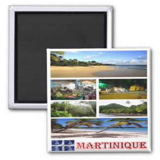 MQ - Martinique -  Mosaic - Collage Magnet