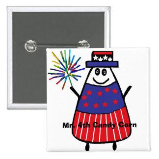 Mr. 4th Candy Corn 15 Cm Square Badge