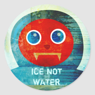 "Mr. Abominable Says, ""My Ice is Melting Up Here!"" Classic Round Sticker"
