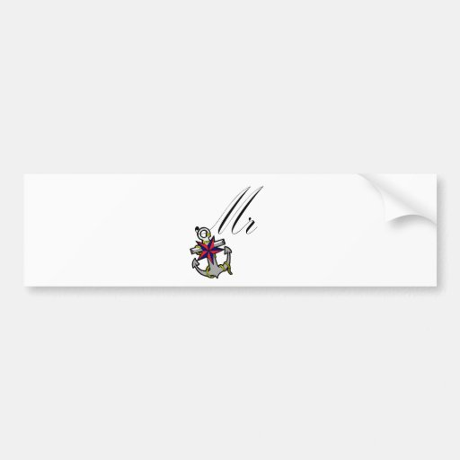 Mr Anchor Bumper Sticker