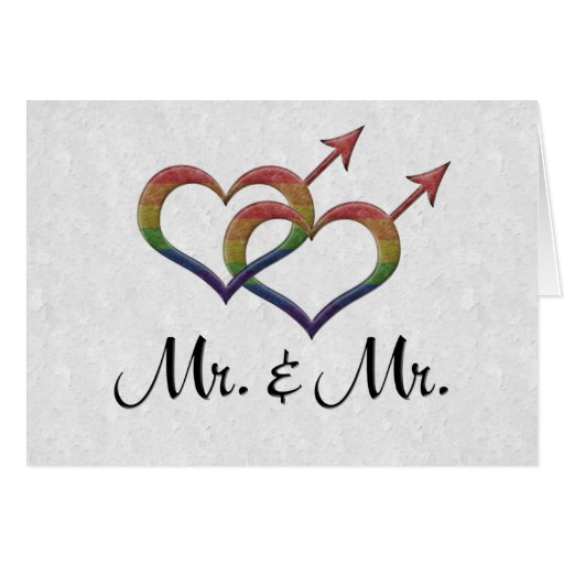 Mr. and Mr. Gay Pride Cards