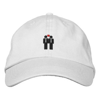 Mr and Mr Gay Pride Love Heart Embroidered Cap