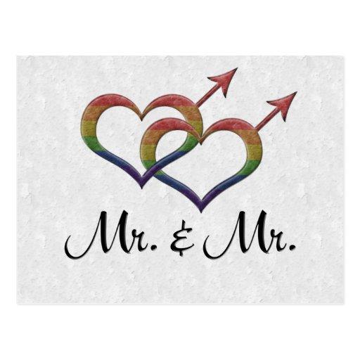 Mr. and Mr. Gay Pride Postcards